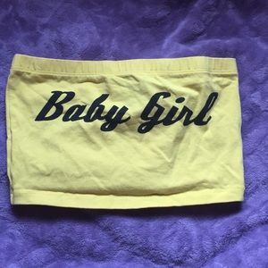 Forever 21 BABY GIRL yellow tube top (never worn)